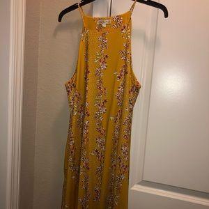 Yellow halter dress